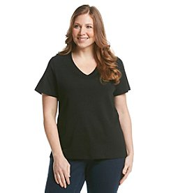 Studio Works® Plus Size Basic V-Neck Tee