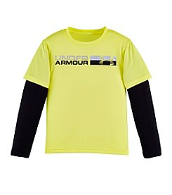 Under Armour® Boys' 2T-7 Long Sleeve Raglan Tee
