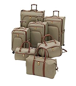 London Fog® Olive Houndstooth Cambridge 360 Ultra Light Luggage Collection