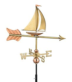 Good Directions® Garden Polished Copper Sailboat Weathervane