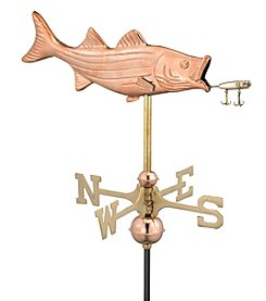 Good Directions® Garden Bass with Lure Weathervane