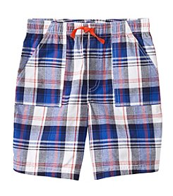 Mix & Match Boys' 2T-7 Plaid Pull On Shorts