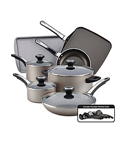 Farberware® High Performance Nonstick 17-pc. Champagne Cookware Set