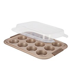 Anolon® Advanced Nonstick Bronze 12-cup Muffin Pan with Silicone Grips