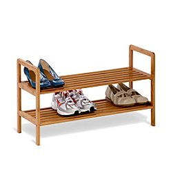 Honey-Can-Do Two-Tier Bamboo Shoe Shelf