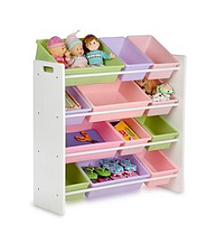 Honey-Can-Do Kids Sort Store Organizer with White Frame