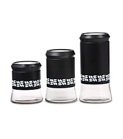 PURELIFE™ by Ragalta® 3-pc. Black Glass Canister Set