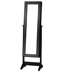 InnerSpace Black Cheval Free-Standing Jewelry Armoire