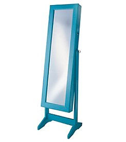 InnerSpace Turquoise Cheval Free-Standing Jewelry Armoire