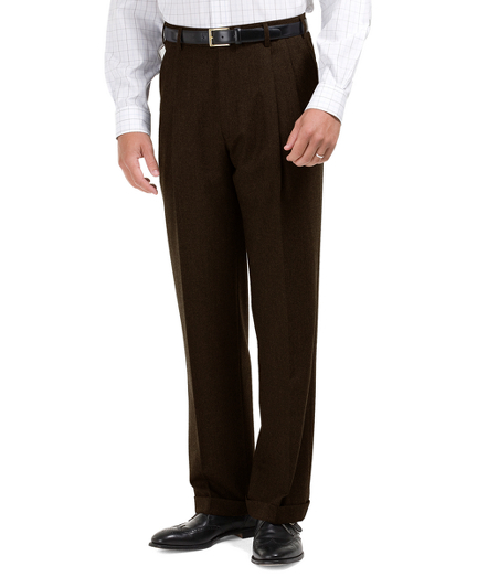 1950s Men's Pants, Trousers | Rockabilly Jeans, Greaser Styles Madison Fit Pleat-Front Flannel Trousers $248.00 AT vintagedancer.com
