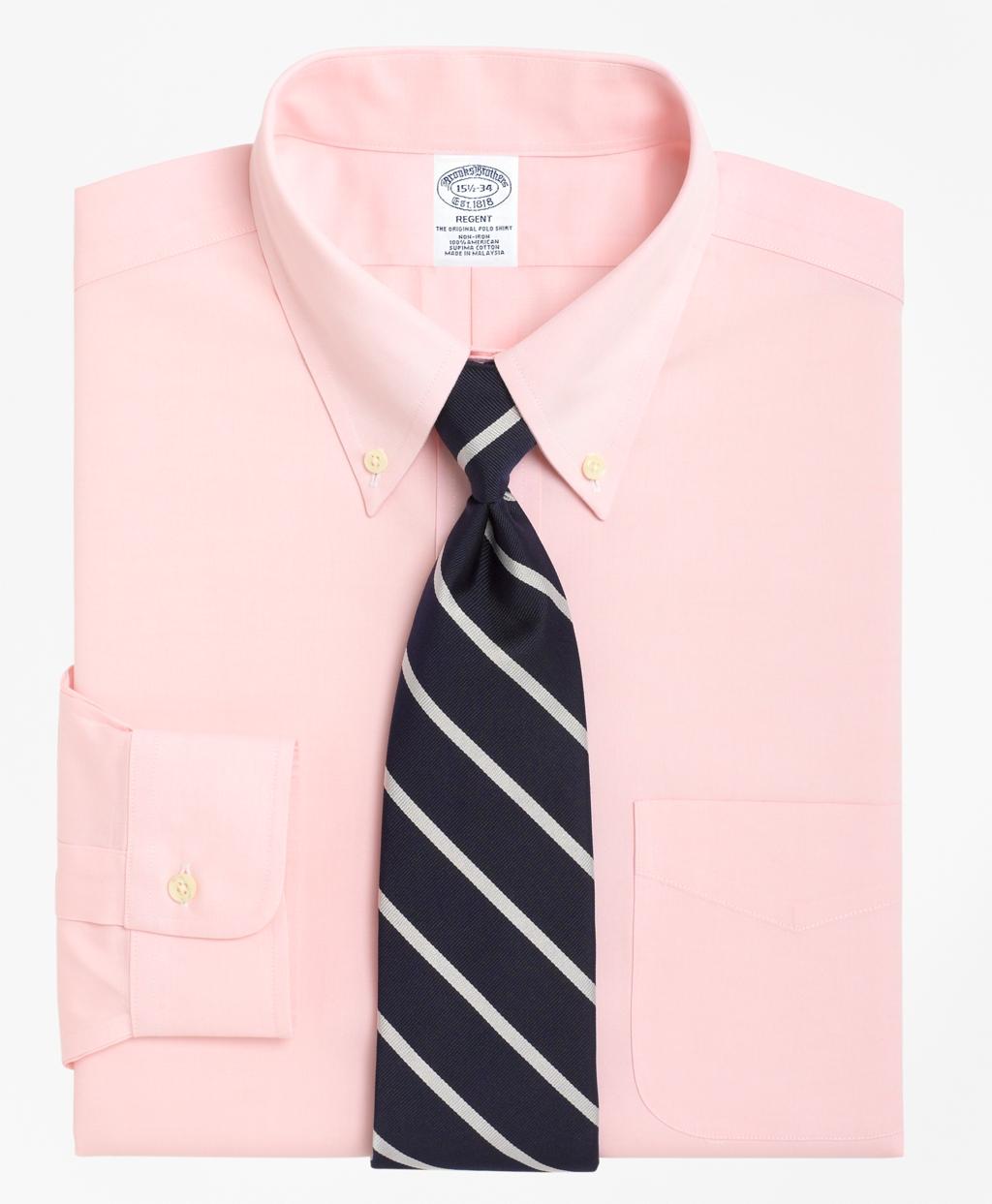 1930s Mens Shirts | Dress Shirts, Polo Shirts, Work Shirts Brooks Brothers Mens Slim Fitted Dress Shirt Non-Iron Button-Down Collar $92.00 AT vintagedancer.com