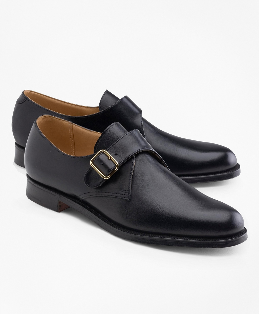 Mens Vintage Style Shoes & Boots| Retro Classic Shoes Brooks Brothers Mens Peal  Co. Monk Straps $648.00 AT vintagedancer.com