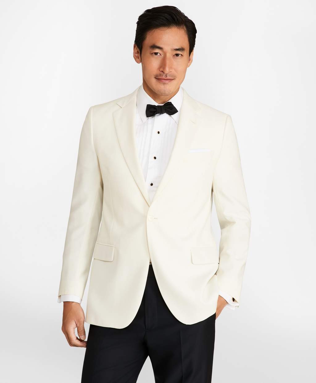 1950s Tuxedos and Men's Wedding Suits Brooks Brothers Mens Fitzgerald Dinner Jacket $898.00 AT vintagedancer.com