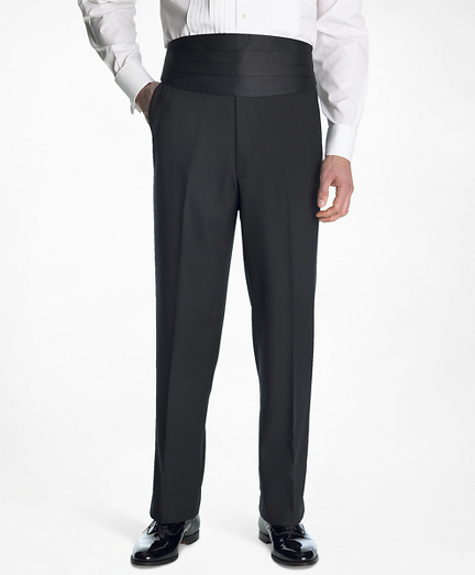 1950s Tuxedos and Men's Wedding Suits 1818 Plain-Front Tuxedo Trousers $300.00 AT vintagedancer.com