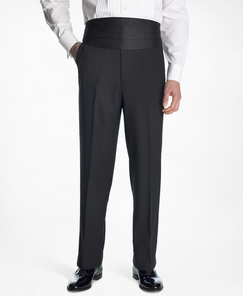 New Vintage Tuxedos, Tailcoats, Morning Suits, Dinner Jackets Brooks Brothers Mens 1818 Plain-Front Tuxedo Trousers $300.00 AT vintagedancer.com