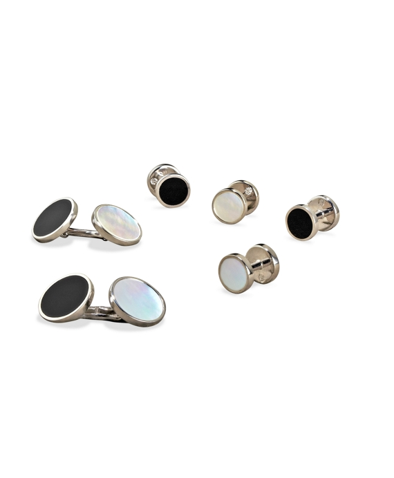 Edwardian Men's Accessories Reversible Stud Set $495.00 AT vintagedancer.com