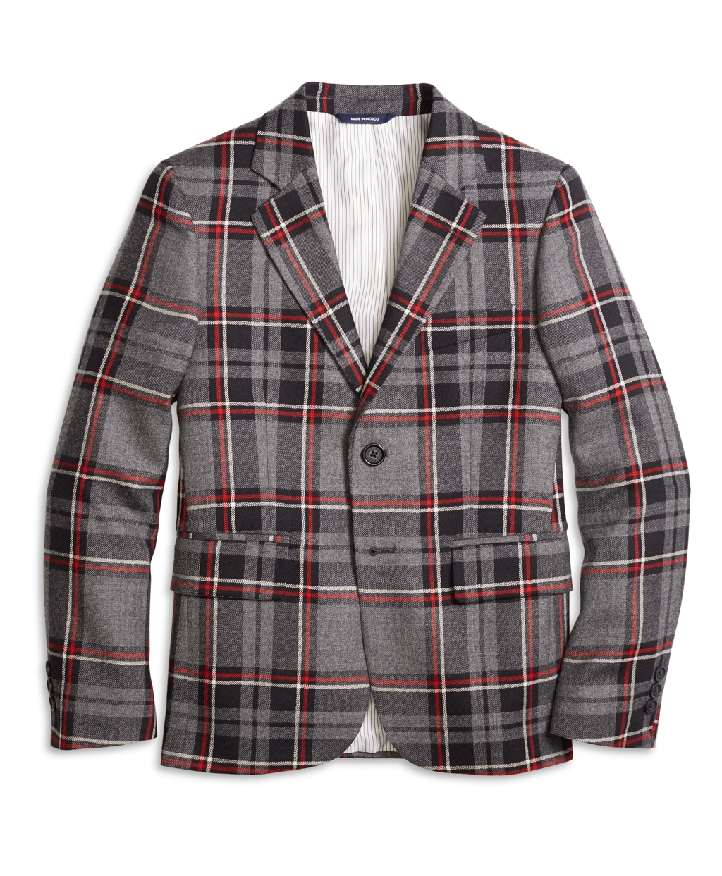 Vintage Style Children's Clothing: Girls, Boys, Baby, Toddler Brooks Brothers Boys Boys Two-Button Plaid Wool Suit Jacket $228.00 AT vintagedancer.com