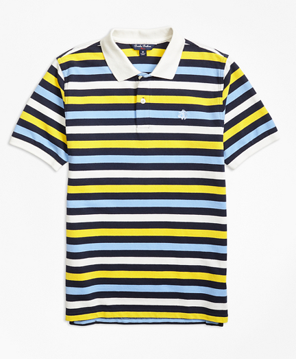 Vintage Style Children's Clothing: Girls, Boys, Baby, Toddler Boys Short-Sleeve Bold Stripe Pique Polo Shirt $25.00 AT vintagedancer.com
