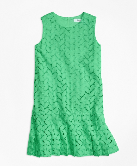 Vintage Style Children's Clothing: Girls, Boys, Baby, Toddler Sleeveless Cotton Eyelet Dress $95.00 AT vintagedancer.com
