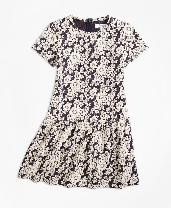 Kids 1950s Clothing & Costumes: Girls, Boys, Toddlers Knit Floral Jacquard Dress $58.00 AT vintagedancer.com