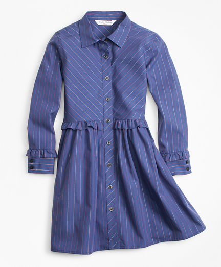 1930s Childrens Fashion: Girls, Boys, Toddler, Baby Costumes Cotton Shirt Dress $68.00 AT vintagedancer.com