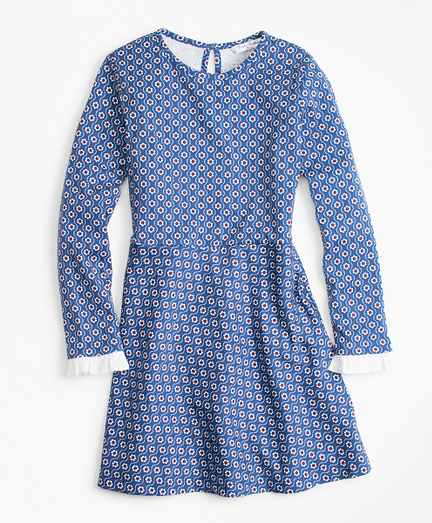 1940s Children's Clothing: Girls, Boys, Baby, Toddler Floral Cotton Knit Dress $34.00 AT vintagedancer.com
