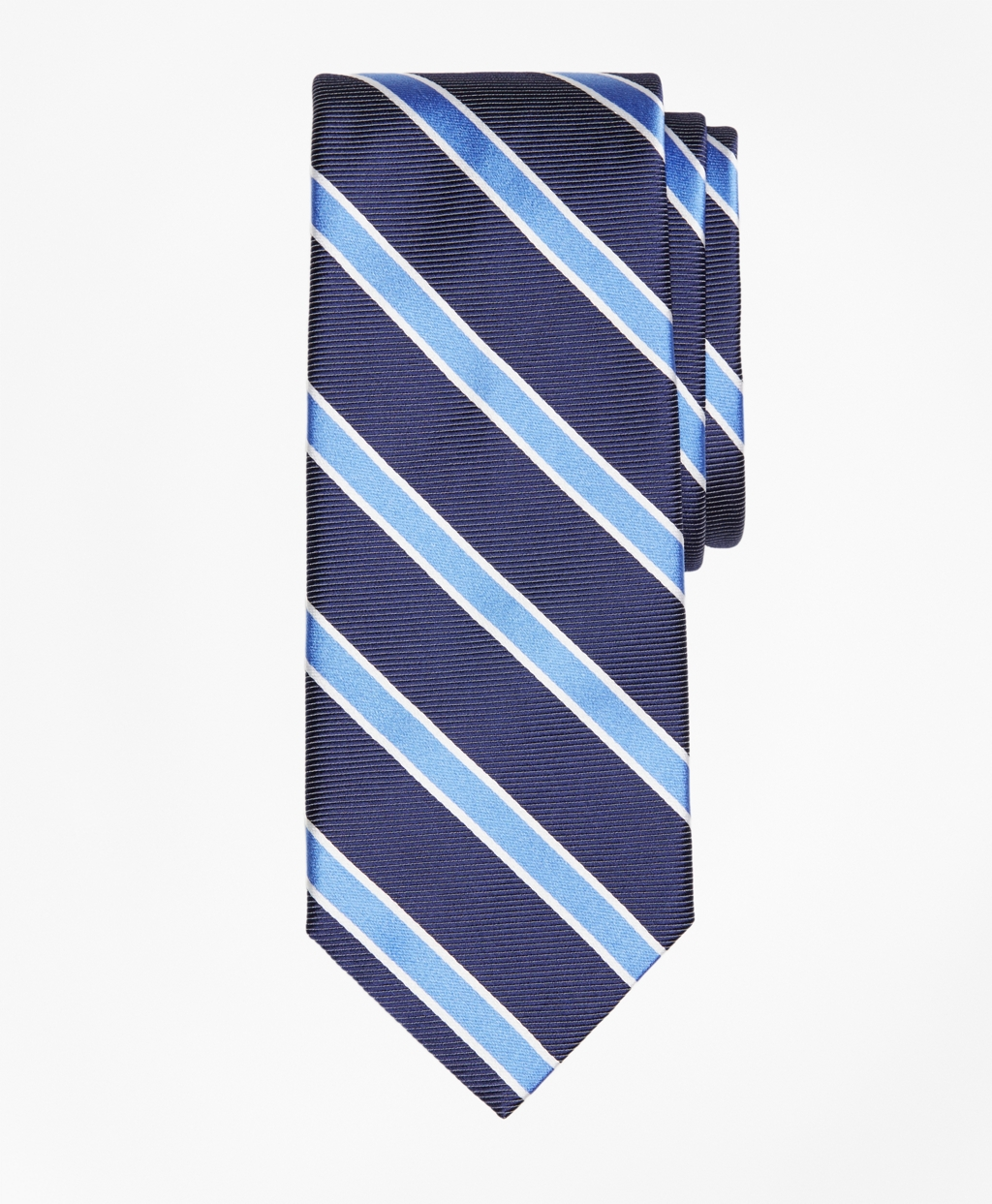Men's Vintage Style Clothing Brooks Brothers Mens Bold Frame Stripe Tie $79.50 AT vintagedancer.com