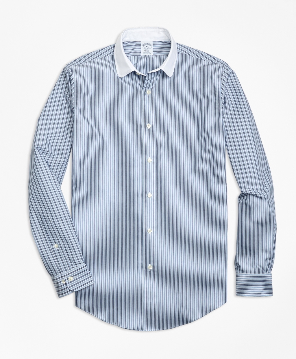 1920s Style Mens Shirts | Peaky Blinders Shirts and Collars Brooks Brothers Mens Regent Fit Heathered Stripe Sport Shirt $92.00 AT vintagedancer.com