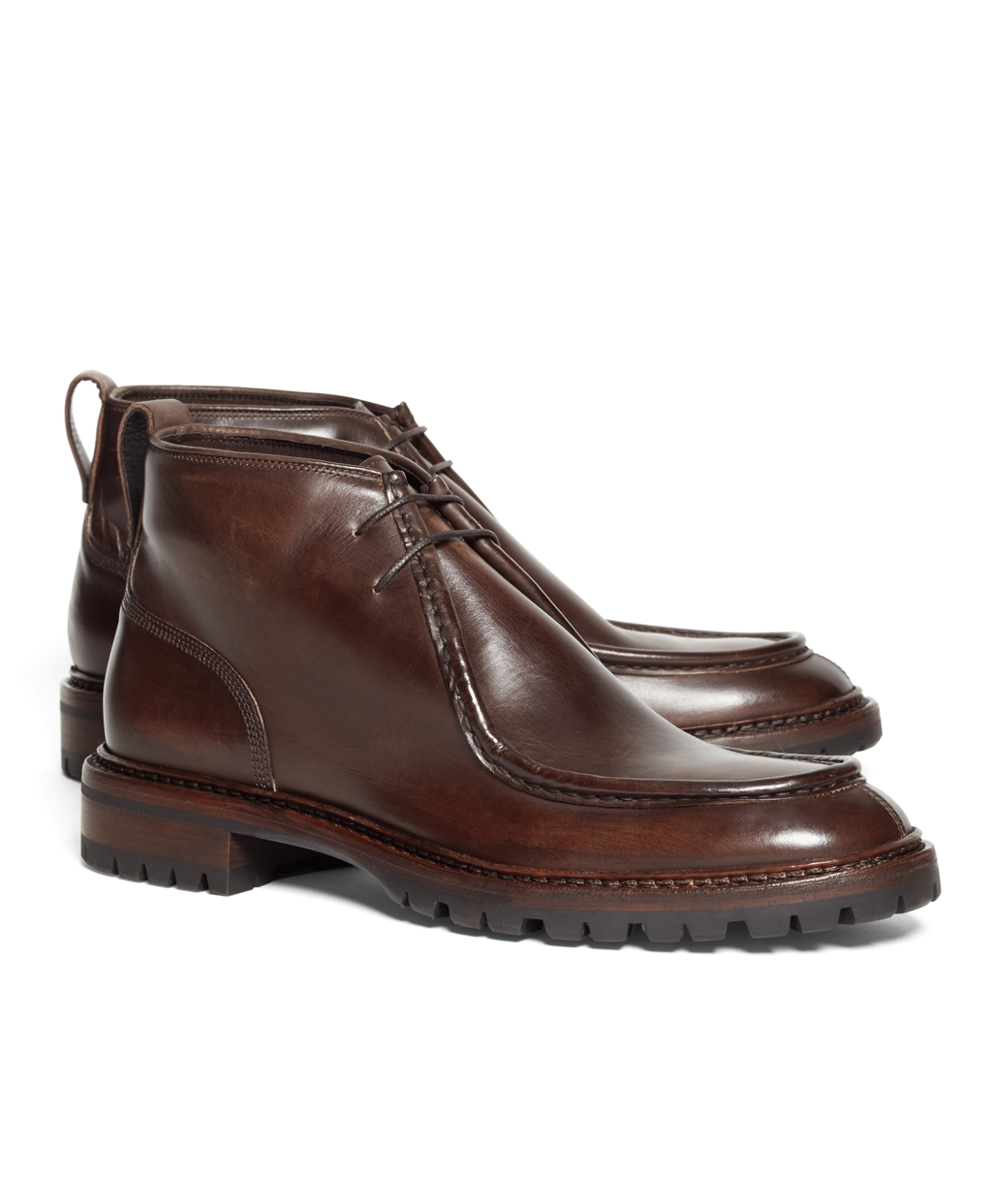 Leather Chukka Boots (Brown)