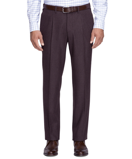 1940s Men's Fashion Clothing Styles Regent Fit Flannel Trousers $298.00 AT vintagedancer.com