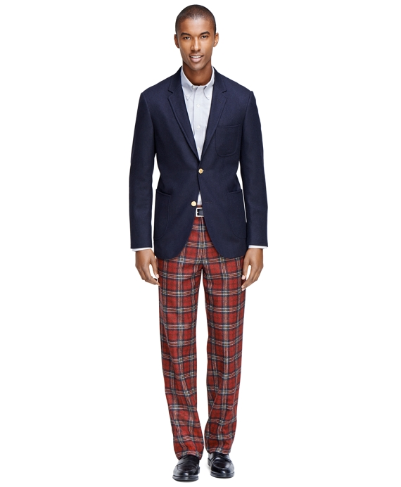 Well-known Men's Extra Slim Fit Red Tartan Dress Pants | Brooks Brothers AI25