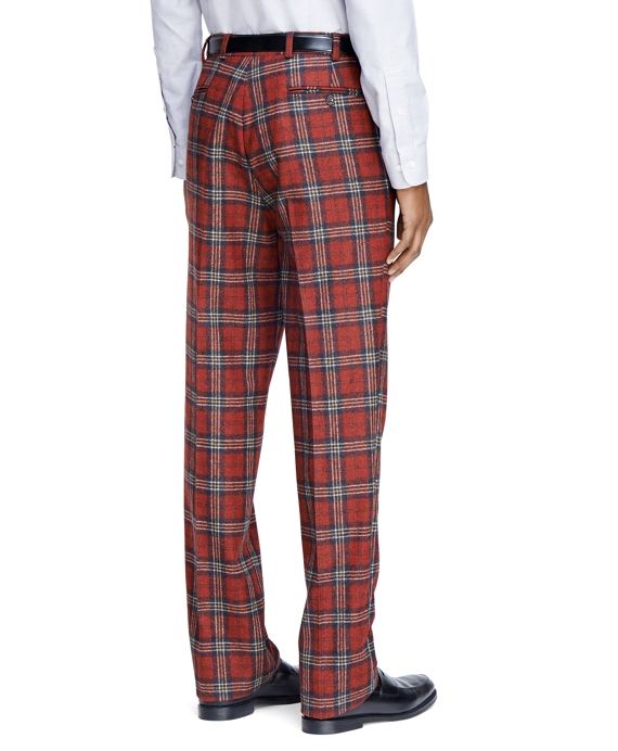 Perfect Men's Extra Slim Fit Red Tartan Dress Pants | Brooks Brothers BM14