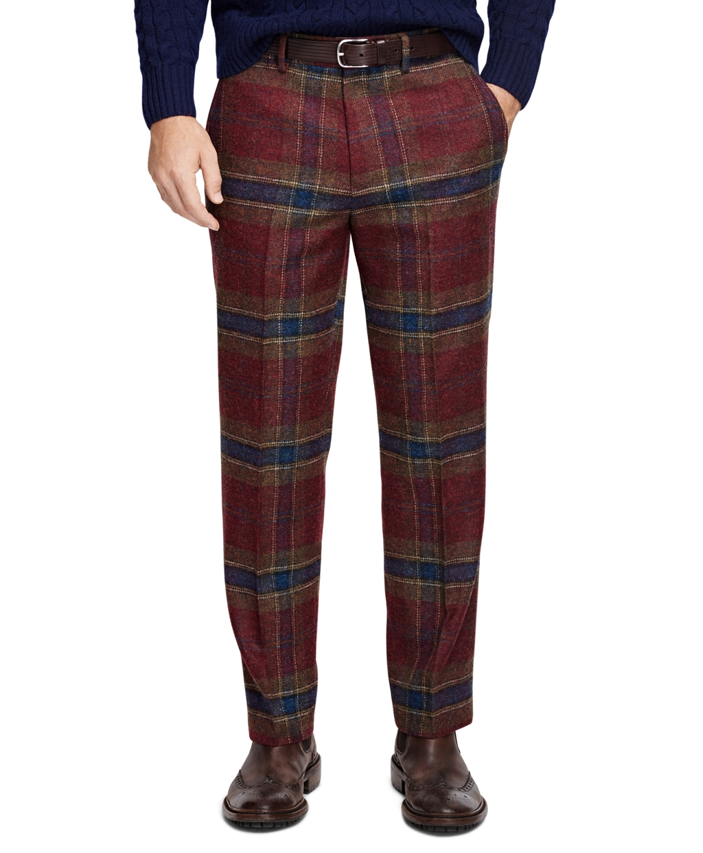 Men's Vintage Style Pants, Trousers, Jeans, Overalls Brooks Brothers Mens Own Make Plaid Trousers $398.00 AT vintagedancer.com