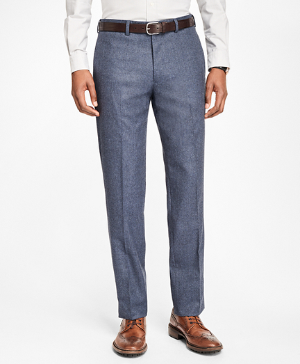 1960s Men's Clothing, 70s Men's Fashion Milano Fit Stretch Flannel Trousers $248.00 AT vintagedancer.com
