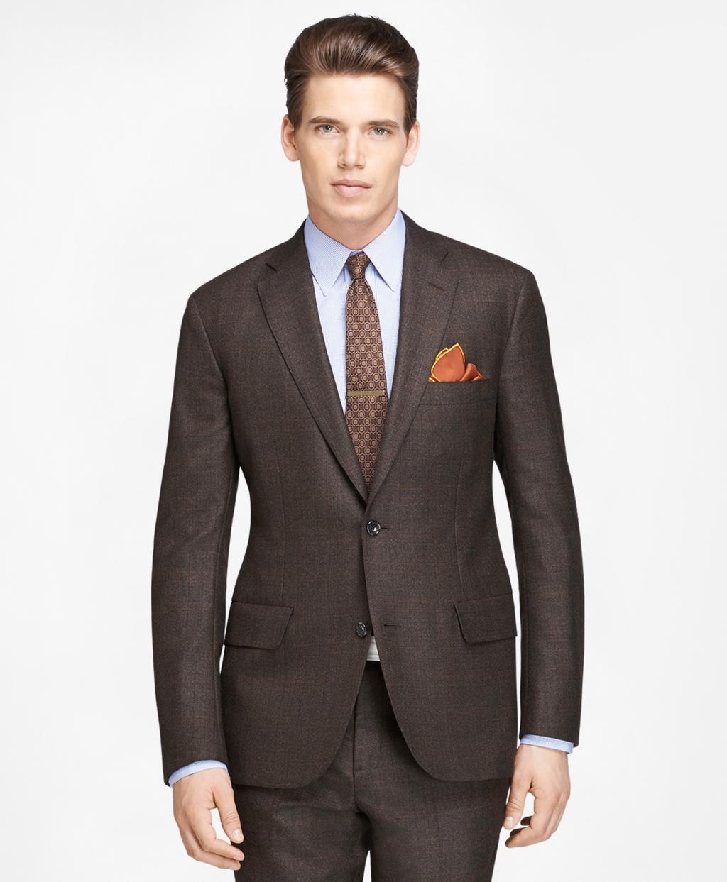 1960s Mens Suits | 70s Mens Disco Suits Brooks Brothers Mens Own Make Plaid Deco Suit $1,298.00 AT vintagedancer.com