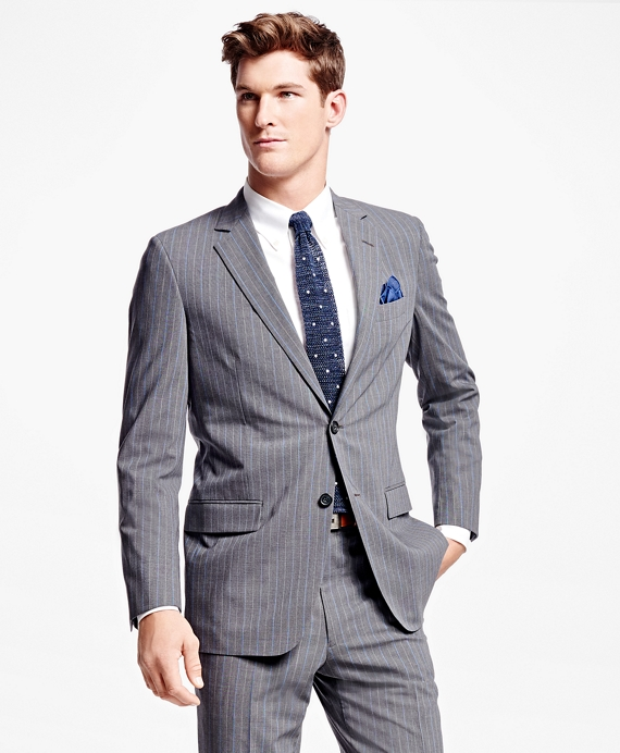 1920s Mens Suits Fitzgerald Fit BrooksCool® Alternating Stripe Suit $349.00 AT vintagedancer.com