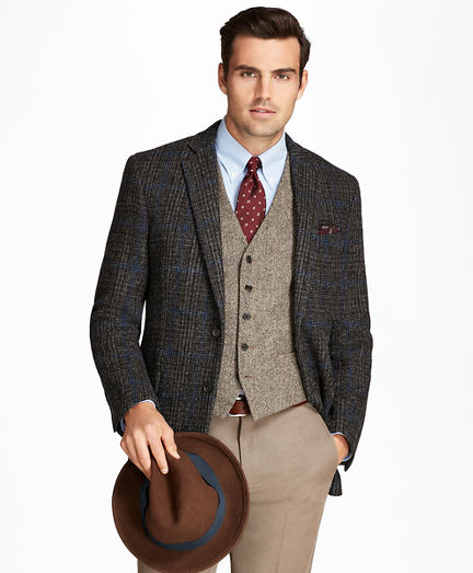1950s Style Mens Suits | 50s Suits Regent Fit Harris Tweed Plaid with Deco Sport Coat $418.80 AT vintagedancer.com