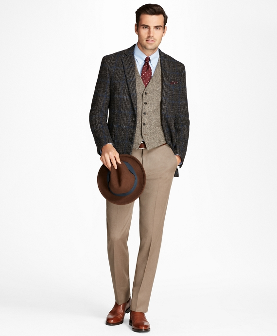 1930s Style Mens Suits Follow UsRegent Fit Harris Tweed Plaid with Deco Sport Coat $698.00 AT vintagedancer.com