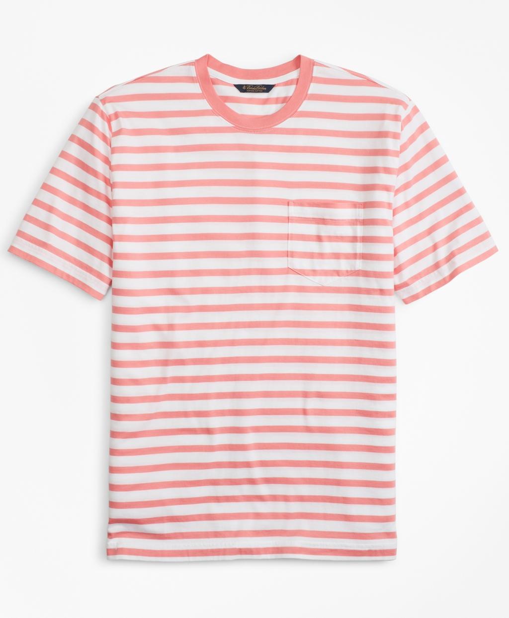 1930s Mens Shirts | Dress Shirts, Polo Shirts, Work Shirts Brooks Brothers Mens Supima Cotton Stripe T-Shirt $49.50 AT vintagedancer.com