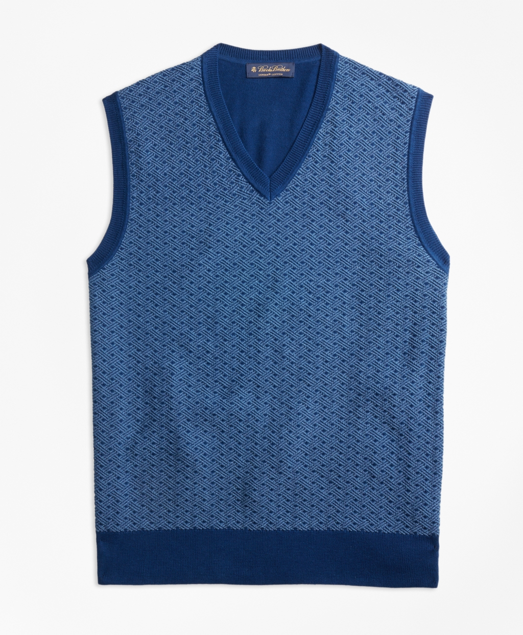Men's Vintage Vests, Sweater Vests Brooks Brothers Mens Supima Cotton Jacquard Sweater Vest $79.50 AT vintagedancer.com