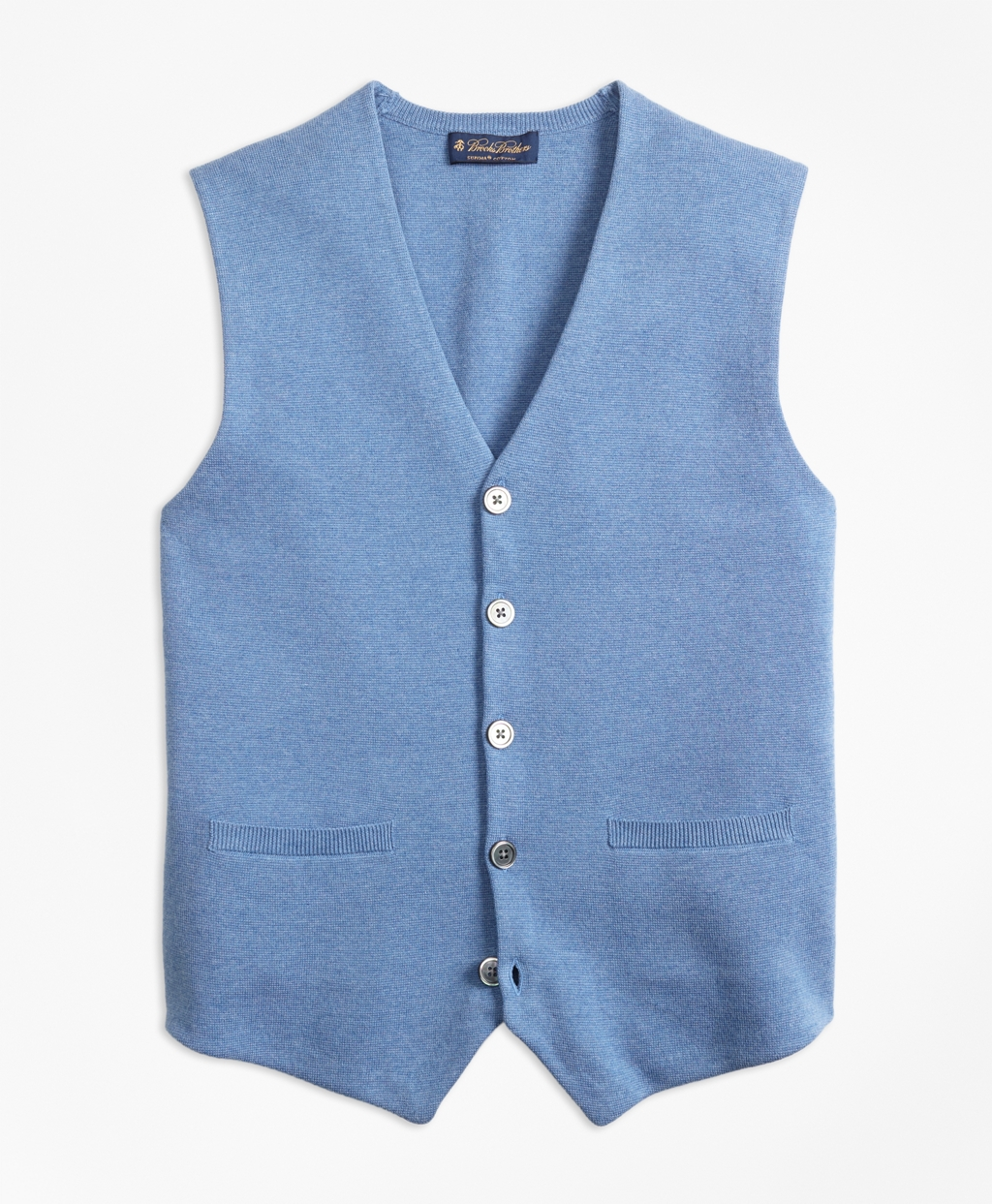 1940s Style Mens Shirts, Sweaters, Vests Brooks Brothers Mens Supima Cotton Sweater Waistcoat $98.50 AT vintagedancer.com