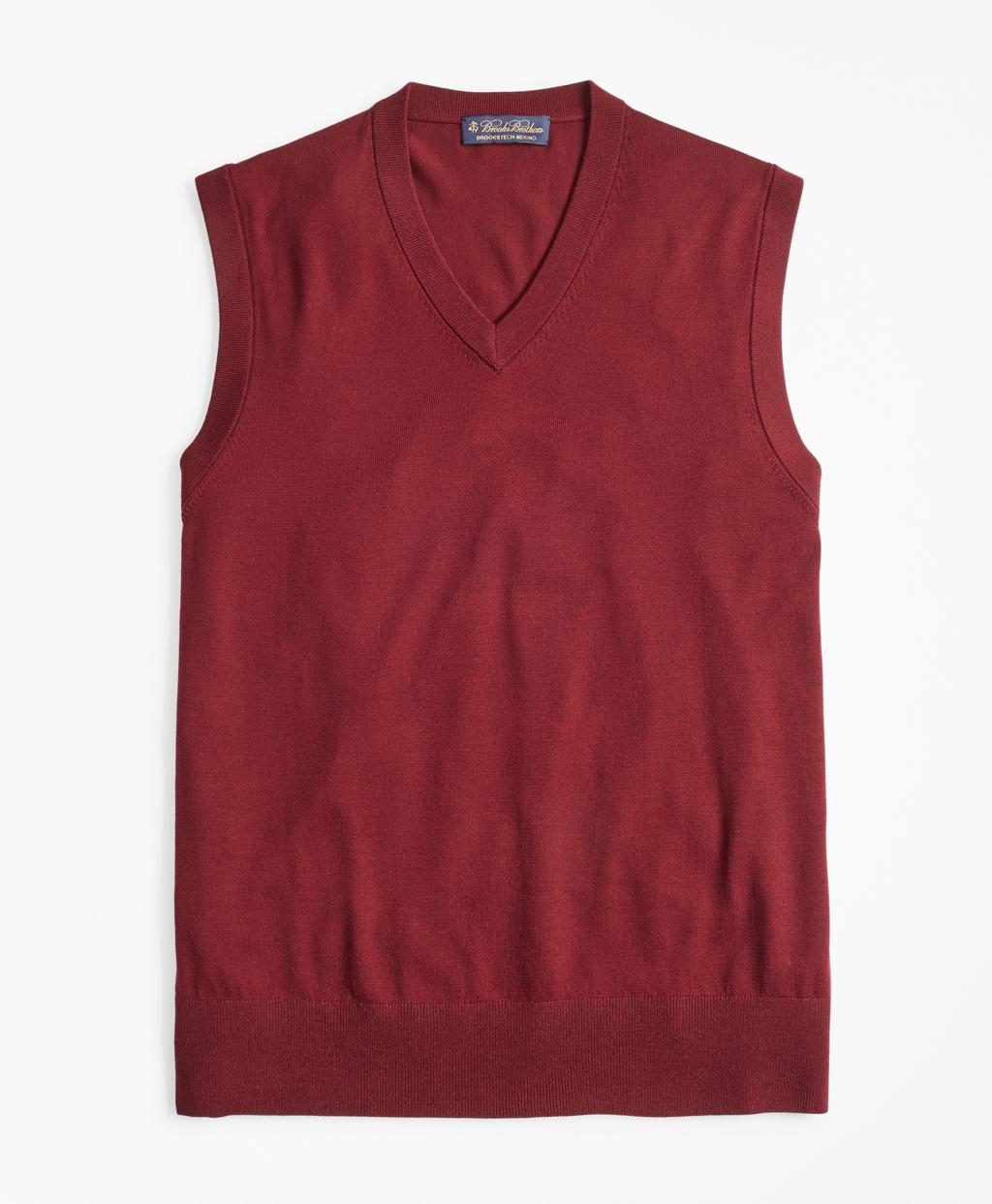 1920s Style Mens Vests Brooks Brothers Mens Brookstech Merino Wool Vest $109.00 AT vintagedancer.com