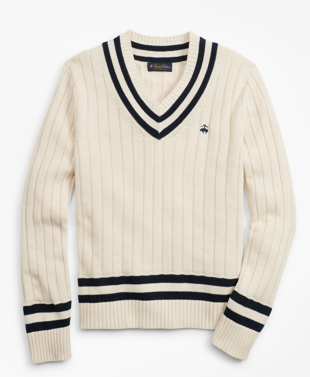1920s Mens Sweaters, Pullovers, Cardigans Brooks Brothers Mens Tennis V-Neck Sweater $98.50 AT vintagedancer.com