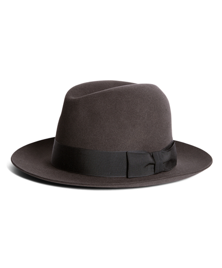 1940s Mens Hat Styles and History Lock and Co. Chelsea Dark Grey Fedora $438.00 AT vintagedancer.com