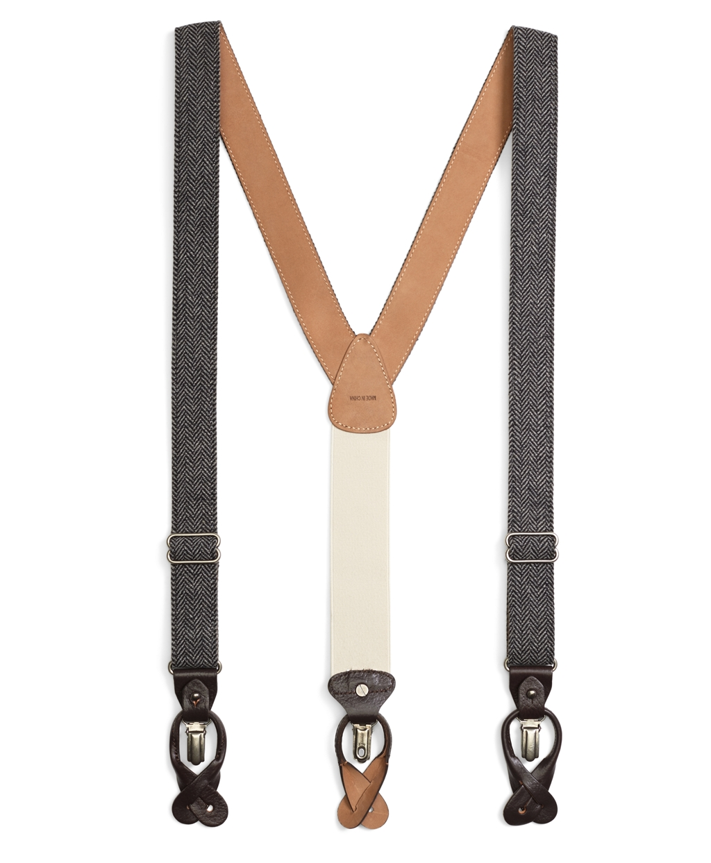 Men's Vintage Style Suspenders Tweed Suspenders Brooks Brothers Mens $118.00 AT vintagedancer.com