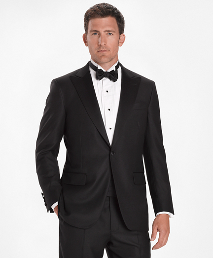 1950s Tuxedos and Men's Wedding Suits Madison Fit Golden Fleece One-Button Peak Tuxedo $2,100.00 AT vintagedancer.com