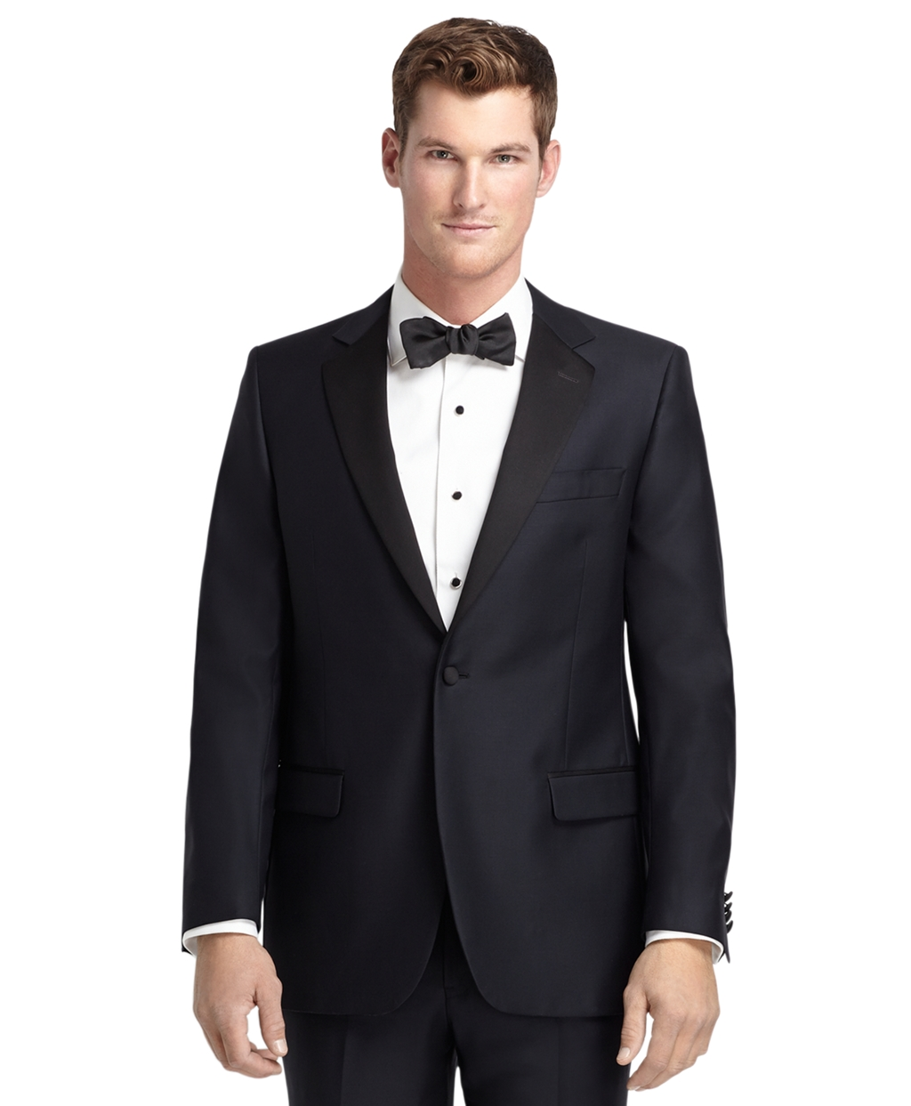 1920s Mens Suits   Gatsby, Gangster, Peaky Blinders Brooks Brothers Mens 1818 One-Button Fitzgerald Navy Tuxedo $1,198.00 AT vintagedancer.com