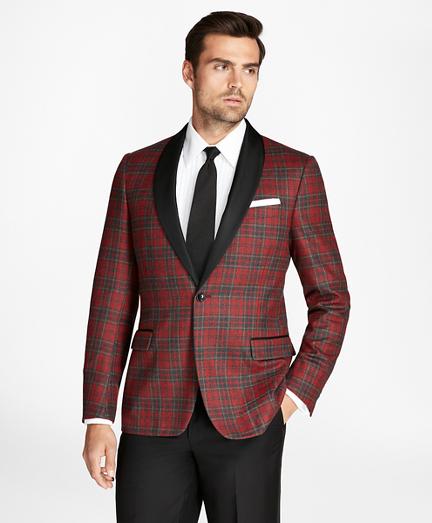 1950s Men's Clothing Regent Fit Tartan Tuxedo Jacket $358.80 AT vintagedancer.com