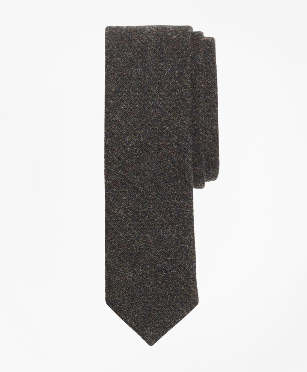 Men's Vintage Style Clothing Brooks Brothers Mens Textured Wool Tweed Tie $49.50 AT vintagedancer.com