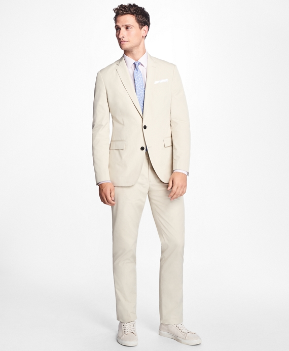 Retro Clothing for Men | Vintage Men's Fashion Slim-Fit Cotton Suit Trousers $140.00 AT vintagedancer.com